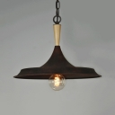 Rust Barn Shade Pendant Light One Light Industrial Metal Ceiling Light for Dining Room