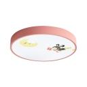 Fairy Moon Girl Bedroom Flush Mount Light Acrylic Stepless Dimming/White Lighting LED Ceiling Light