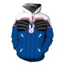 Popular Blue Comic Cosplay Costume 3D Character Print Unisex Sport Loose Hoodie
