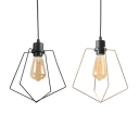 Antique Black/Gold Pendant Light with Cage 1/3 Pack One Light Cage Hanging Light for Dining Room