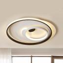 Modern Round/Square Ceiling Mount Light Acrylic LED Flush Light in Warm/White for Study Room