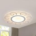 Contemporary Floral Flush Mount Light Metal Warm/White Lighting LED Ceiling Light for Dining Room