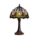 Stained Glass Mahogany Desk Light Study Room 12 Inch 1 Head Tiffany Traditional Table Light