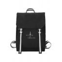 Popular Letter WINTER IS COMING Printed Stylish Canvas School Bag Backpack 27.5*40*13cm
