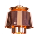 Cafe Restaurant Pendant Light Metal 1 Light Creative Rose Gold Ceiling Pendant with Adjustable Cord