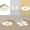 Lovely White LED Ceiling Mount Light Flower Acrylic Ceiling Lamp with White Lighting for Girl Bedroom