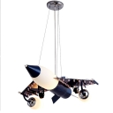 Vivid Airplane Shape Hanging Light Creative Metal LED Suspension Light for Boy Bedroom
