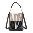 New Trendy Plain Portable Transparent Shoulder Bag for Women 25*10*27 CM