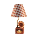 Vintage Gramophone Desk Light Resin 1 Light Brown Study Light for Boy Girl Bedroom