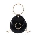 Designer Personalized Plain Metal Ring Embellishment Circle Crossbody Bag 17*6*19 CM