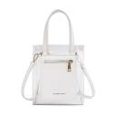 Fashion Letter Print Solid Color Transparent Tote Crossbody Shoulder Bag for Women 18*21.5*9.5 CM