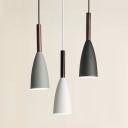 Dining Table Funnel Pendant Light Metal 1 Light Nordic Style Black/Gray/White Ceiling Pendant