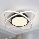 Acrylic Planet LED Ceiling Fixture Nordic Style Stepless Dimming/Warm/White Flush Light for Nursing Room