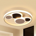 Abstract Shape LED Flush Mount Light Contemporary Metal Ceiling Light in Warm/White for Kindergarten