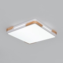 Square Living Room Flush Mount Light Acrylic Contemporary LED Ceiling Lamp with Neutral Light