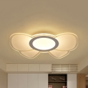 Acrylic Bow LED Ceiling Mount Light Cartoon Flush Ceiling Lamp with Warm/White Lighting for Girls Bedroom