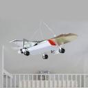 Plane Shape Kindergarten LED Pendant Light Metal 3 Lighting Mode Modern Hanging Light