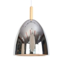Dining Room Dome Pendant Lamp with Adjustable Cord Metal 1 Light Modern Chrome/Rose Gold Hanging Light
