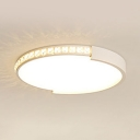 Slim Panel LED Ceiling Mount Light Contemporary Acrylic Flush Mount Light with White Lighting for Child Bedroom