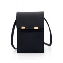 Simple Fashion Solid Color Crossbody Phone Purse with Long Strap 13*2*20 CM