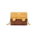 Popular Color Block Buckle Design Crossbody Satchel Bag 18*7*14 CM
