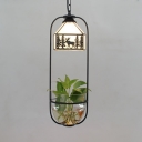 Rustic Style White Ceiling Pendant House Shade 1 Light Glass Hanging Light with Deer for Restaurant
