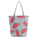 Cute Cartoon Watermelon Polka Dot Printed Black and White Shoulder Bag 27*11*38 CM