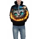Hot Fashion Cat 3D Print Long Sleeve Loose Fit Unisex Hoodie