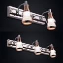 Modern Chrome LED Vanity Lighting Antifogging 2/3 Lights Aluminum Sconce Lamp in Warm/White for Bathroom