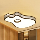 Baby Bedroom Guitar Flush Ceiling Light Acrylic Creative Black/White LED Ceiling Fixture in Warm/White