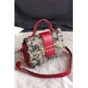 Trendy Plain Belt Buckle Hairy Crossbody Satchel Bag for Women