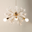 Contemporary Sputnik 3 Lights Chandelier, Acrylic Shade LED Lighting for Bedroom