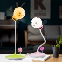 Child Bedroom Bee Desk Light 1 Head Lovely Touch Control 3 Lighting Modes Reading Light in Green/Pink