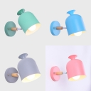 Nordic Style Cup Wall Light Metal 1 Light Rotatable Sconce Light in Pink/Gray/Blue/Green for Kitchen