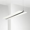Library Office Rectangle LED Hanging Light Acrylic Simple Style White Slim Pendant Light