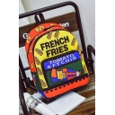 Big Capacity Funny Cartoon Soft Drink Letter Print Colorblock Canvas Student Backpack for Girls 37*28*12 CM