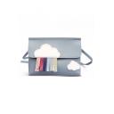 Lovely Cloud Pattern Colored Tassel Embellishment Crossbody Phone Wallet 20*6*14 CM