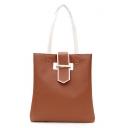 Popular Plain Buckle Embellishment Shoulder Bag for School 33*5*31 CM