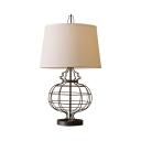 Industrial Globe Body Reading Light 1 Light Fabric Desk Light in White for Living Room