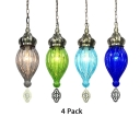 1 Head Teardrop Suspension Light 1/4 Pack 1 Light Glass Hanging Light for Living Room(not Specified We will be Random Shipments)