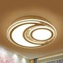Contemporary Slim Panel LED Ceiling Mount Light Acrylic Flush Light in Warm/White for Kid Bedroom