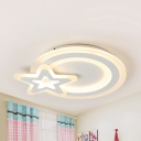 Modern Star LED Ceiling Mount Light Third Gear Dimming/Warm/White Lighting Ceiling Fixture for Bedroom