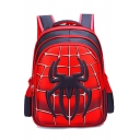Hot Fashion Spider Printed Red School Bag Backpack For Students 32*18*42 CM