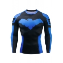 Mens Cool Phoenix Cosplay Costume Long Sleeve Quick Dry Running Fitness Tight T-Shirt