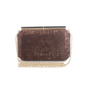 Fashion Vintage Printed Evening Clutch Bag with Chain Strap for Women 21*4*13.5 CM