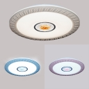 Modern Round Ceiling Light Acrylic Blue/Pink/Yellow Flush Light in Warm for Adult Child Bedroom