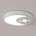 Mood Planet Bedroom Ceiling Mount Light Acrylic Creative LED Flush Mount Light in Warm/White