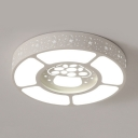 Kindergarten Mushroom Round Ceiling Mount Light Acrylic Lovely Third Gear LED Ceiling Lamp