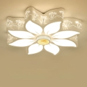 Petal Child Bedroom Ceiling Mount Light Acrylic Lovely Ceiling Fixture with White Lighting