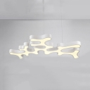 Art Deco Black/White LED Pendant Lamp Eye-Caring Acrylic Ceiling Pendant in Warm/White for Hotel